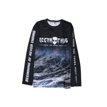 Apparel Bone Ocean Thug Waves Round Tee Long